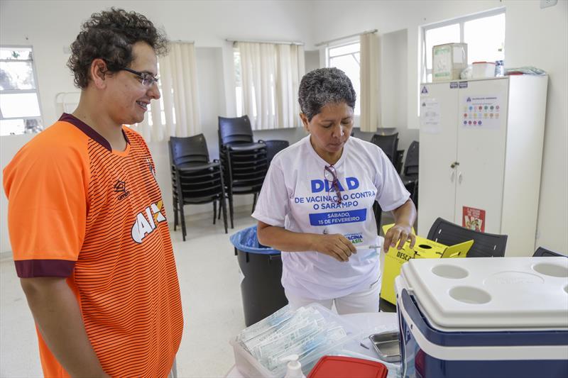Dia D de vacinação contra o sarampo, na Unidade de Saúde Vila Guaíra. Curitiba, 15/02/2020. Foto: Pedro Ribas/SMCS