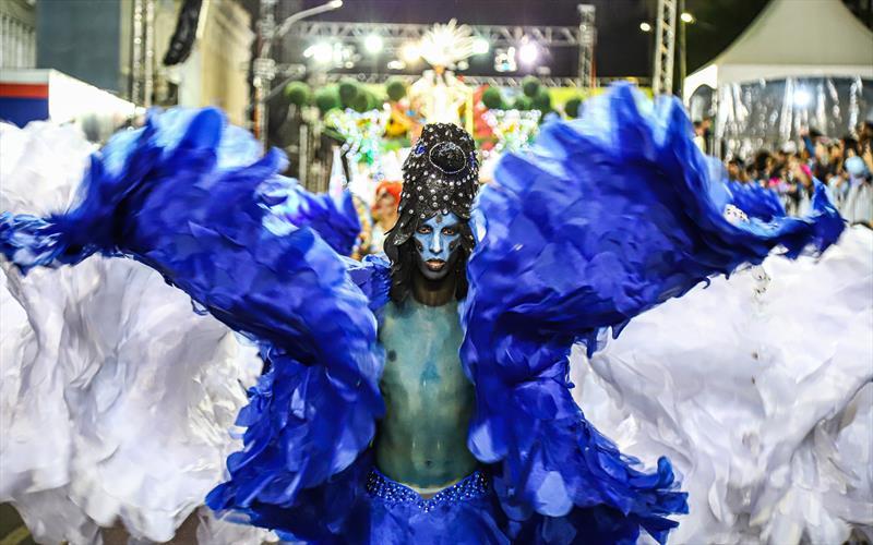 Desfile das escolas de Samba no Carnaval de Curitiba. Na imagem desfile da Enamorados do Samba - Curitiba, 22/02/2020 - Foto: Daniel Castellano / SMCS