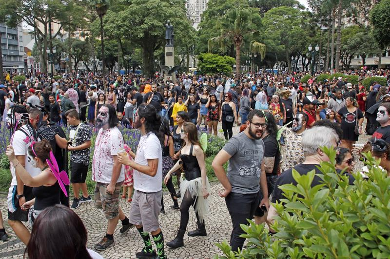 Marcha Zumbie Walk. Curitiba, 23/02/2020. Foto: Lucilia Guimarães/SMCS