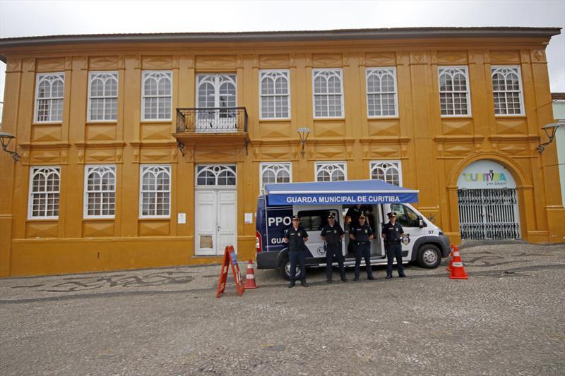 A Guarda Municipal reforçou o efetivo na região central da cidade após atos de vandalismo. Foto: Divulgação