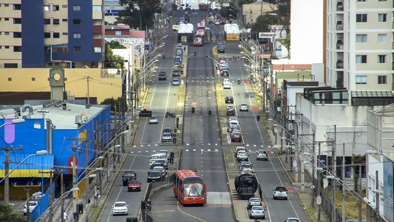 Urbs altera tabela ônibus a partir desta quarta-feira. Curitiba, 24/03/2020. Foto: Luiz Costa/SMCS