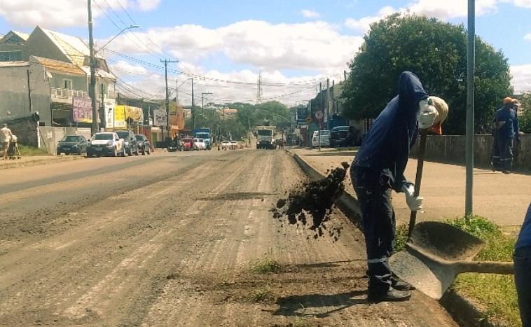 Começam as obras de fresa e recape na Rua Professor Algacyr Munhoz Maeder. Curitiba, 24/03/2020. Foto: Divulgação