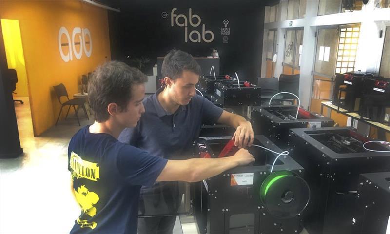 FabLab começa a produzir kits de máscara em impressão 3D nesta quinta-feira. Foto: Divulgação