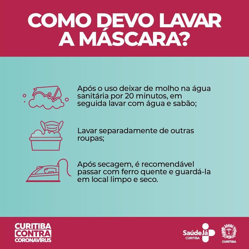 A Secretaria Municipal da Saúde de Curitiba (SMS) orienta que a população passe a usar máscaras caseiras, feitas em tecido (pano ou TNT), como mais uma medida de enfrentamento a pandemia do novo coronavírus.