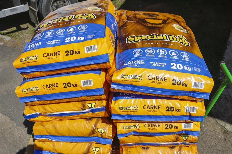 Banco de Ração faz entregas em drive-thru até esta sexta. Foto: Pedro Ribas/SMCS