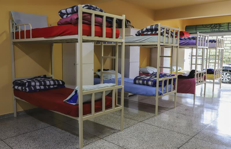 Unidade de Acolhimento Institucional Boqueirão (UAI), onde pessoas são acolhidas e passam a morar nas unidades, recebendo toda assistência necessária. Curitiba, 22/05/2020. Foto: Hully Paiva/SMCS
