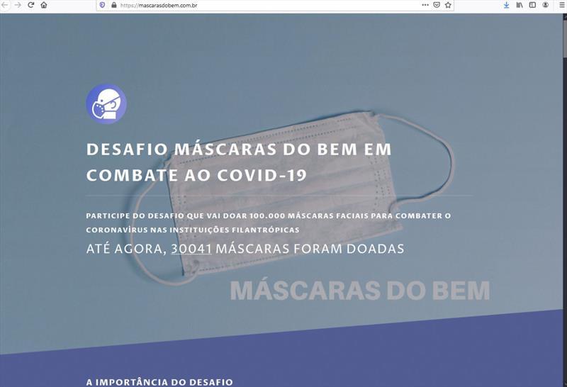 Campanha Máscara do Bem já arrecadou 30 mil itens caseiros para doação.