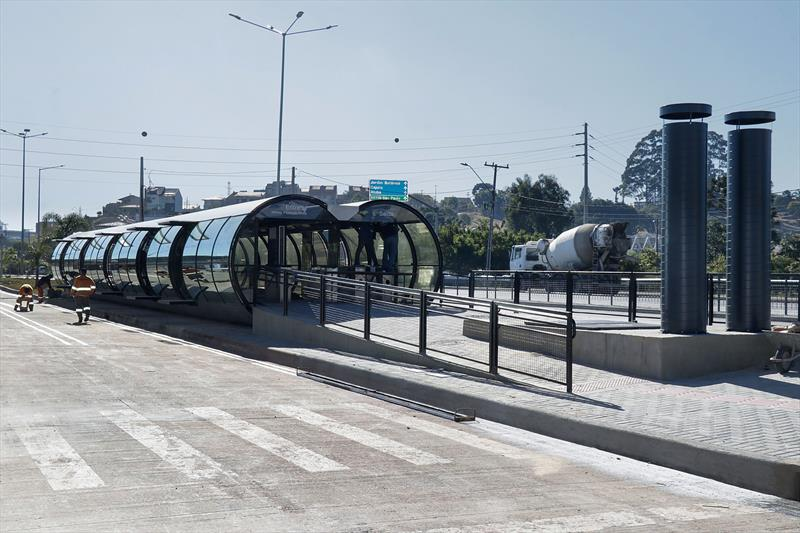Estação PUC Linha Verde.  Curitiba, 28/05/2020. Foto: Ricardo Marajó/SMCS