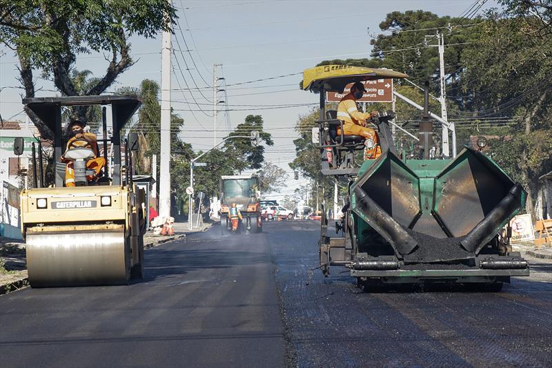 Obra na Rua Holanda benificia cinco bairros.Curitiba, 28/05/2020. Foto: Ricardo Marajó / SMCS