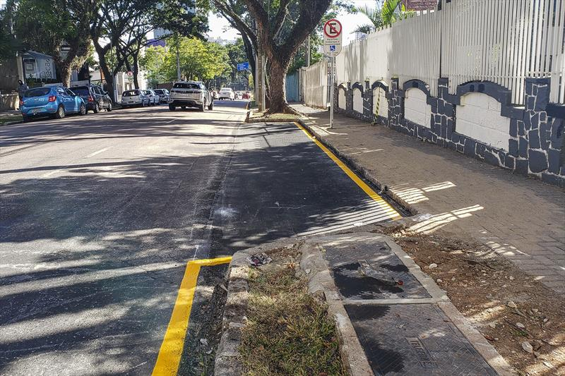 Vagas exclusivas para embarque e desembarque  do Instituto Paranaense dos Cegos. Curitiba, 29/05/2020. Foto: Pedro Ribas/SMCS