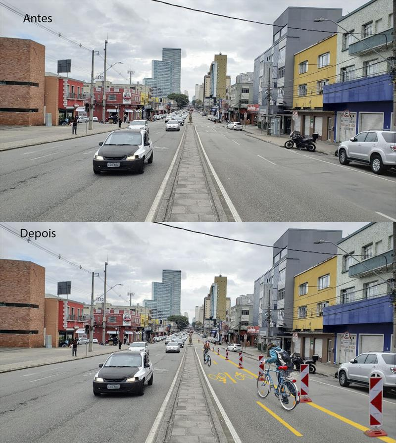 Entorno do Mercado Municipal terá ciclofaixa temporária e calçadas ampliadas. Foto: Divulgação
