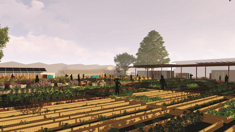 Pesquisadores e startups poderão testar novas tecnologias na Fazenda Urbana. Ilustração: Fazenda Urbana