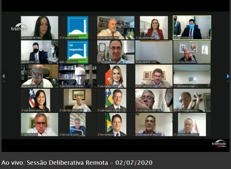 O Senado Federal aprovou em sessão deliberativa remota, nesta quinta-feira (2/7), a contratação de financiamentos externos por Curitiba. Foto: Divulgação