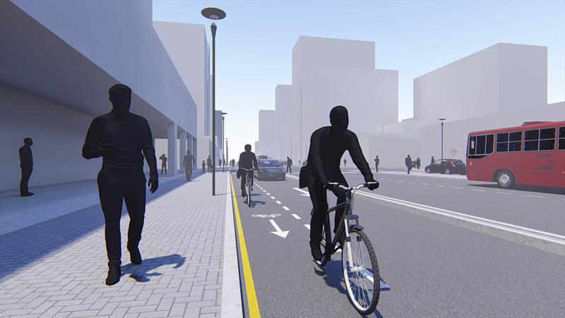 Ciclistas e motoristas terão via compartilhada na Rua Padre Anchieta.
