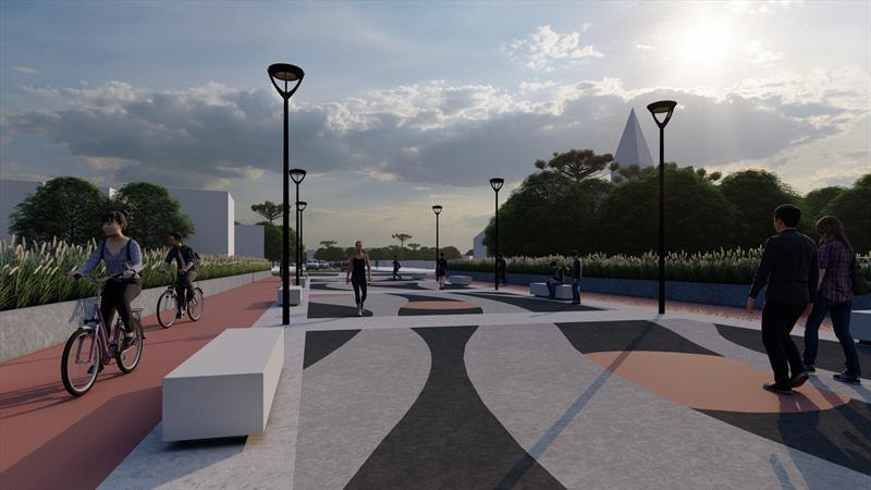 Garantidos recursos ao projeto do novo viaduto do Orleans. Ilustração: IPPUC