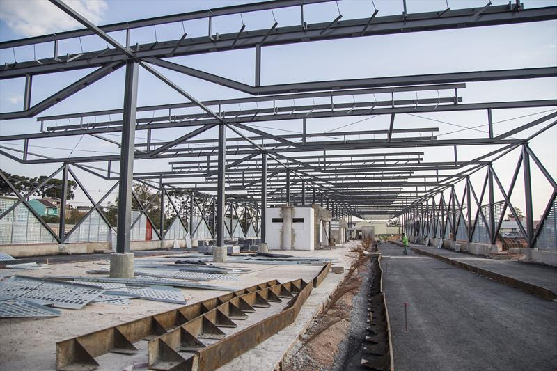 Obras do novo Terminal Tatuquara. Curitiba, 11/08/2020. Foto: Pedro Ribas/SMCS