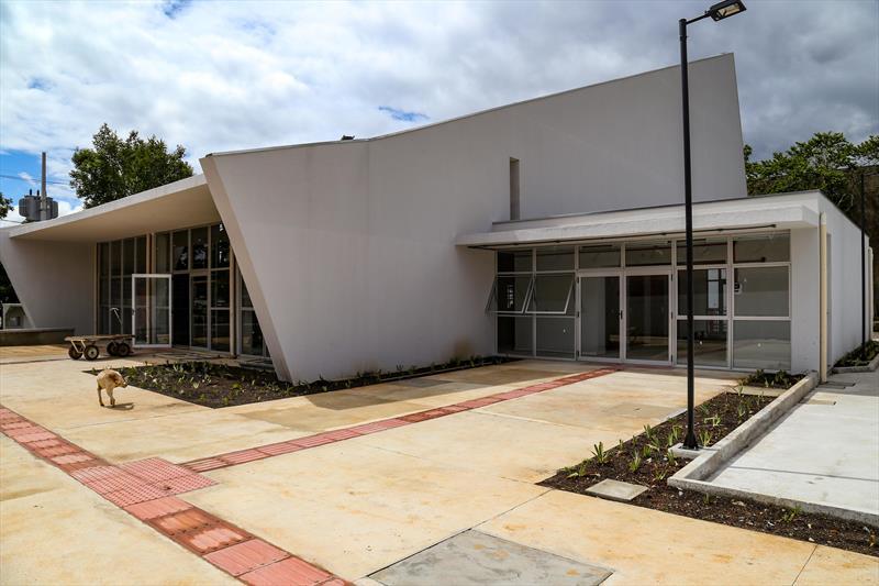 Obras do Centro Cultural, na CIC. Curitiba, 19/11/2020.  Foto: Rafael Silva/Cohab