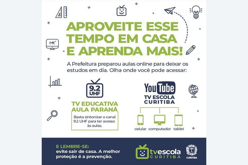 A TV Escola Curitiba vai exibir, videoaulas com um intensivo de alfabetização de Língua Portuguesa e Matemática.