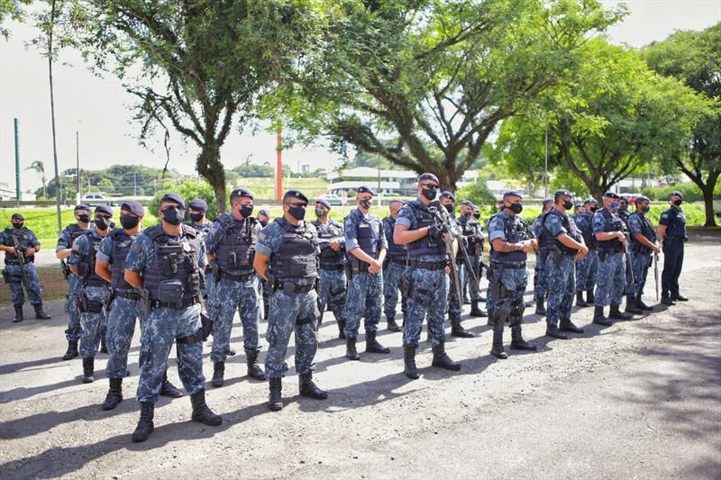 Guarda Municipal integra operação estadual de combate a crimes. Foto:  Ricardo Deverson/Guarda Municipal
