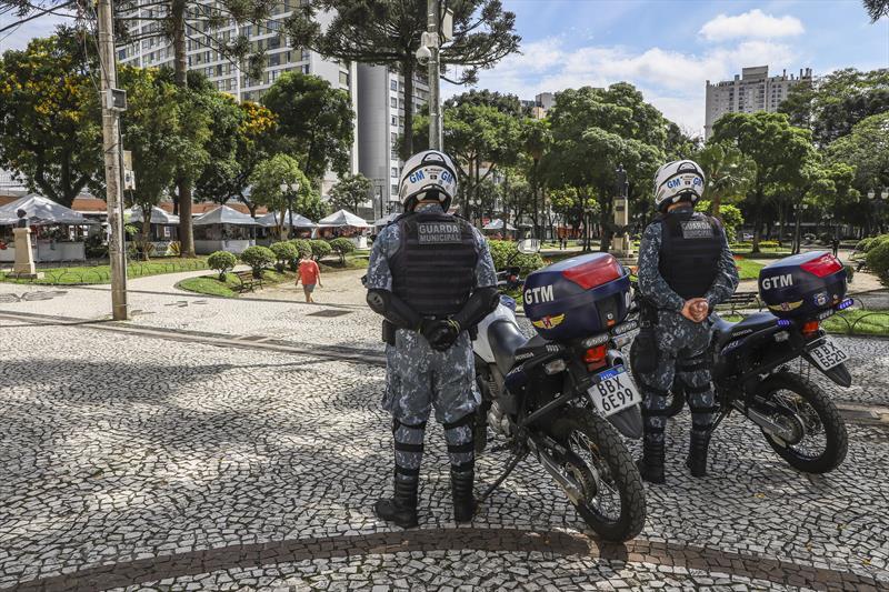 Operação Natal mobiliza guardas municipais. Curitiba, 04/12/2020. Foto: Hully Paiva/SMCS