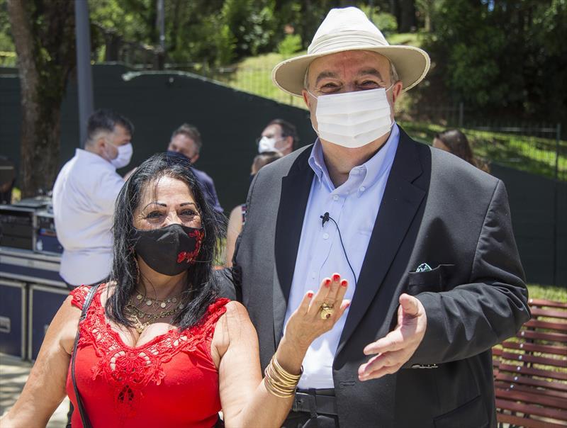 Prefeito Rafael Greca faz a entrega simbólica do Memorial Paranista, no Parque São Lourenço. Curitiba, 19/12/2020. Foto: Pedro Ribas/SMCS