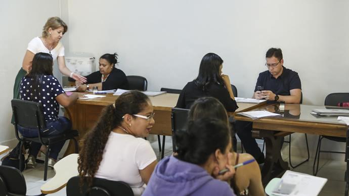 Assinatura de contrato do PSS Saúde, tecnico de saúde bucal. Curitiba, 13/01/2020. Foto: Luiz Costa /SMCS