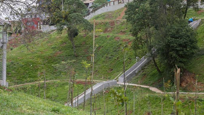 Obras de recuperação ambiental realizadas na Vila Nori. Curitiba, 04/02/2020. Foto: Rafael Silva