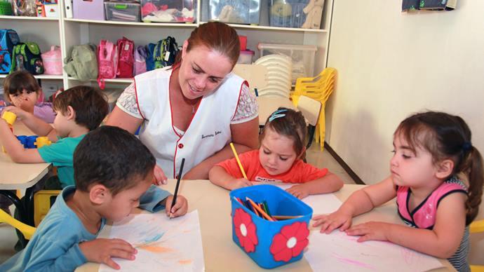 Prefeitura vai contratar mais professores de educação infantil e profissionais do magistério. Foto: Cesar Brustolin/SMCS