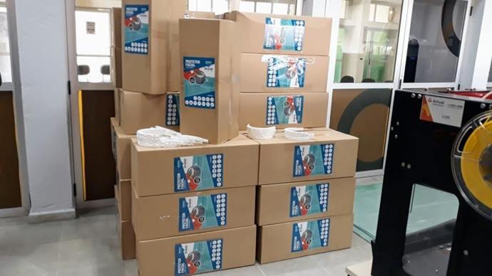 FabLab recebe 20 mil aros para produção de máscaras-escudo contra covid. Foto: Divulgação