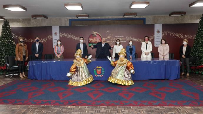 Prefeito Rafael Greca, lança a programação do Natal de Curitiba - Luz dos Pinhais. Curitiba, 18/11/2020. Foto: Ricardo Marajó/SMCS