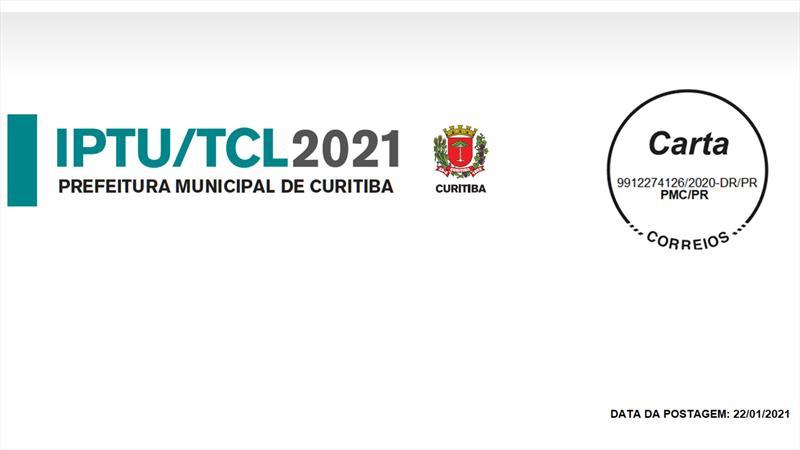 Cartas do IPTU 2021 começam a ser postadas amanhã nos Correios.