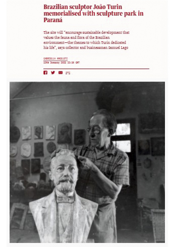 Homenagem a Turin é pauta em revista especializada em artes. Reprodução/The Art Newspaper