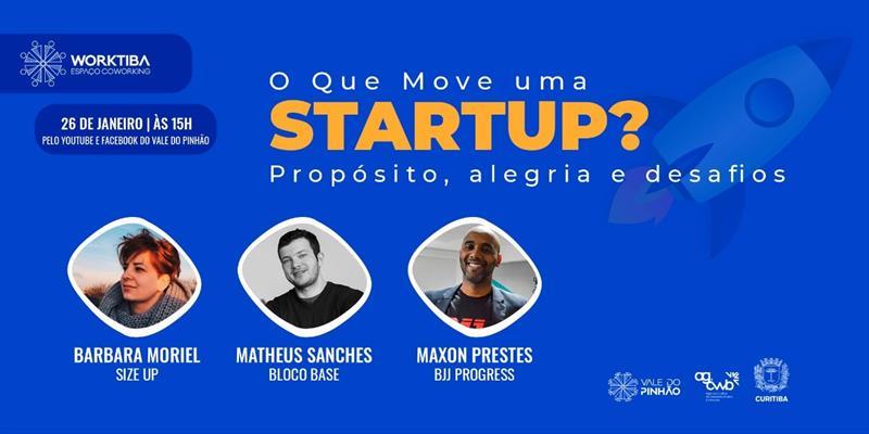 Donos de startups nos Worktibas compartilham em lives os desafios para o sucesso.