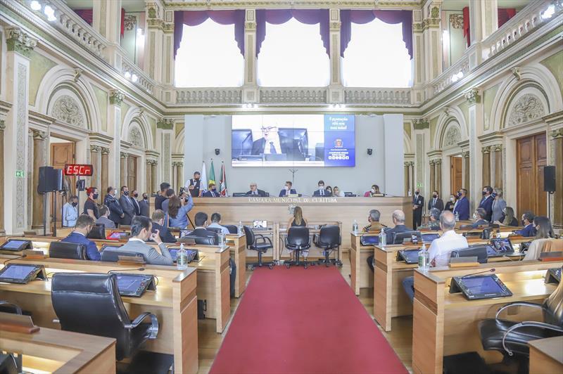 Abertura do ano legislativo na Câmara Municipal de Vereadores de Curitiba - Curitiba, 01/02/2021 - Foto: Daniel Castellano / SMCS