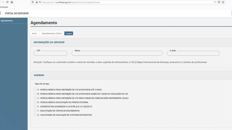 Agendamento da perícia médica é novo serviço do Portal do Servidor.