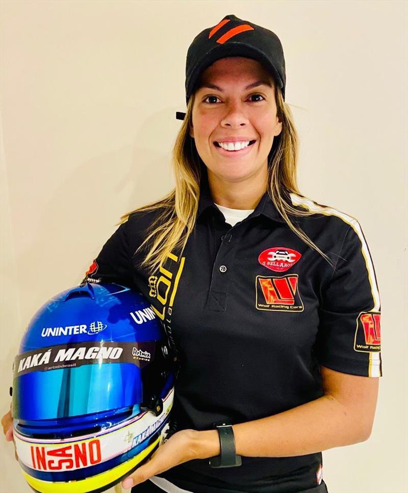 A piloto curitibana Kaká Magno será a primeira mulher a disputar o Campeonato Italiano de Protótipos, a Wolf Racing Cars.  Foto: Divulgação