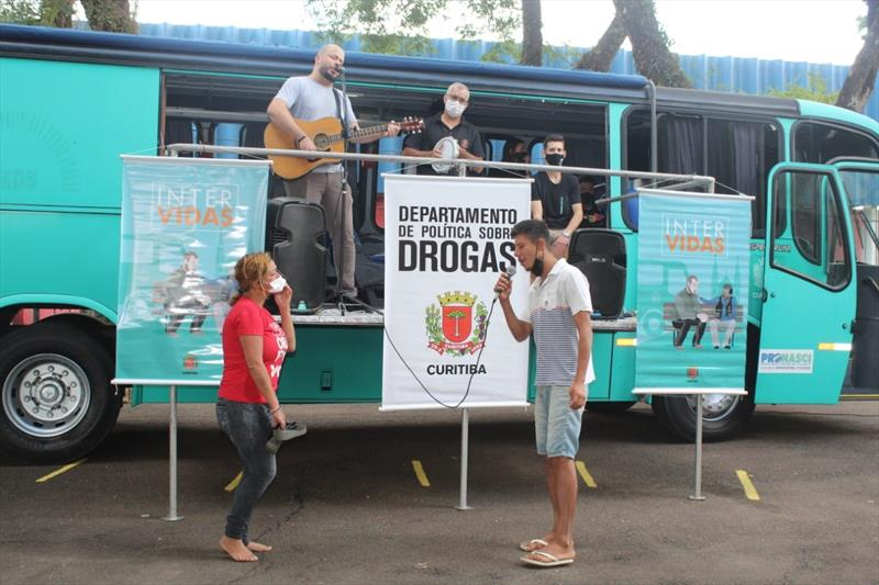 Intervidas propõe atividades culturais à população atendida no Mesa Solidária. Curitiba, 09/04/2021.  Foto: Divulgação