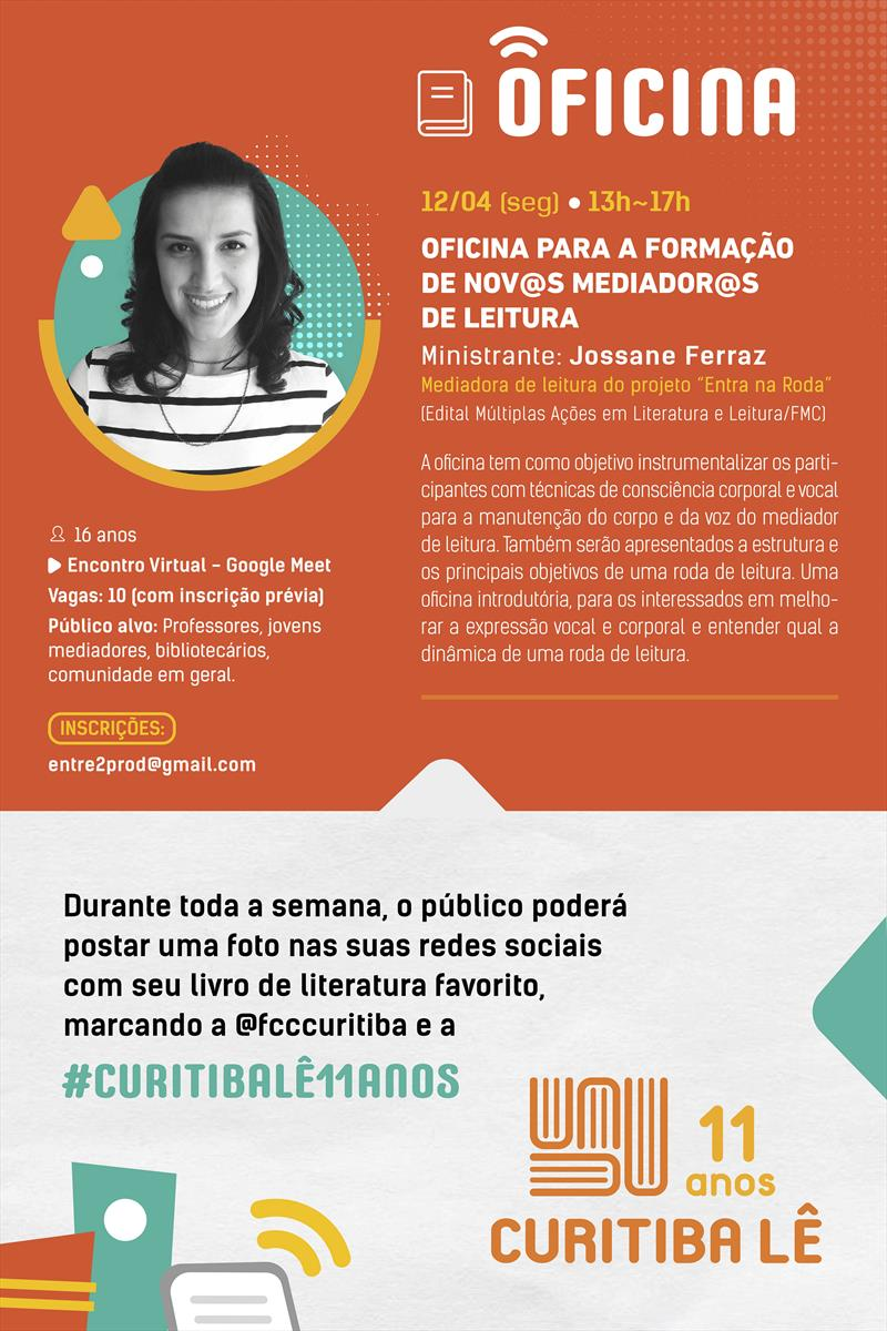 Programação de aniversário do Curitiba Lê.