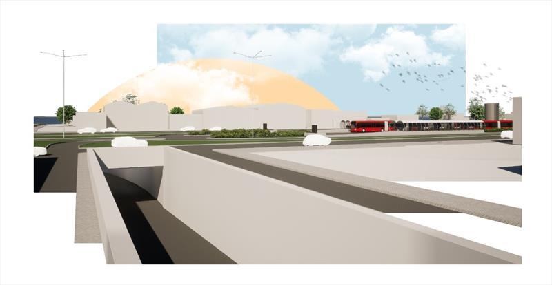 Prefeitura e governo avançam com as transposições da Linha Verde.  Ilustração: Ippuc