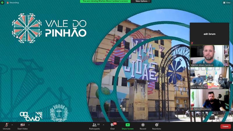 Tour Online apresenta Vale do Pinhão ao TRE-PR. Imagem: Divulgação