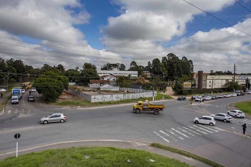Iniciado processo de obra que resolverá nó de trânsito na CIC. Curitiba - 23/04/2021. Foto: Ricardo Marajó/SMCS