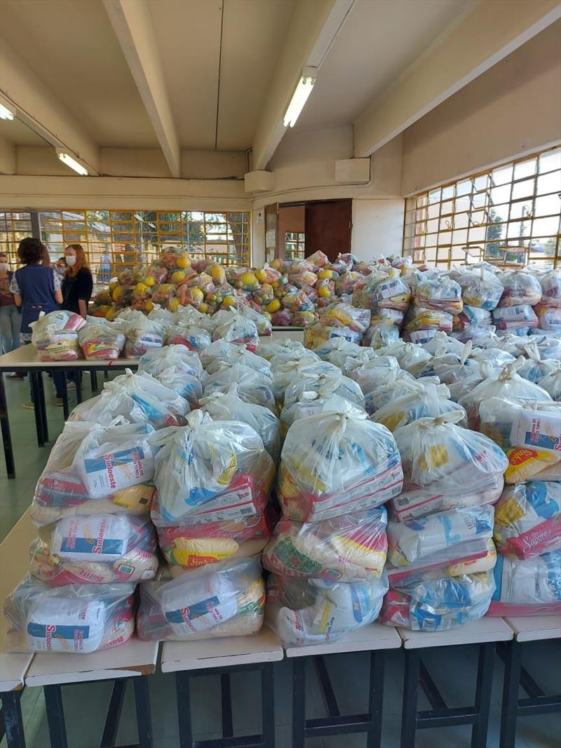 kit alimentaçao e pedagogico Regional CIC. Foto: Divulgação