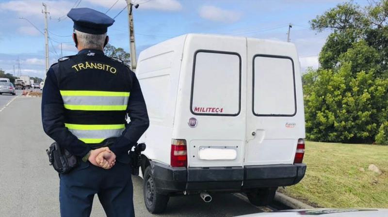 Guarda Municipal apreende veículo recordista em multas no ano. Foto: Divulgação