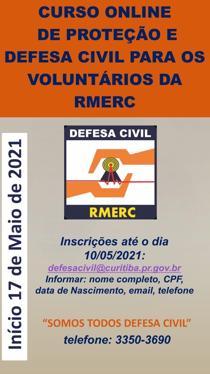 Defesa Civil promove curso online para servidores e voluntários.