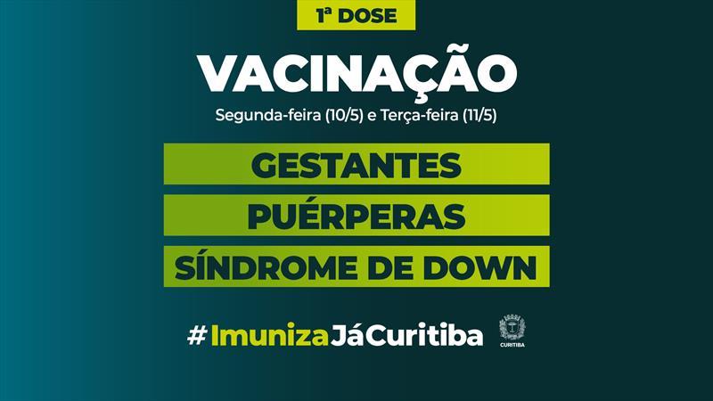 Começa na segunda a vacinação de gestantes, puérperas e pessoas com Síndrome de Down.