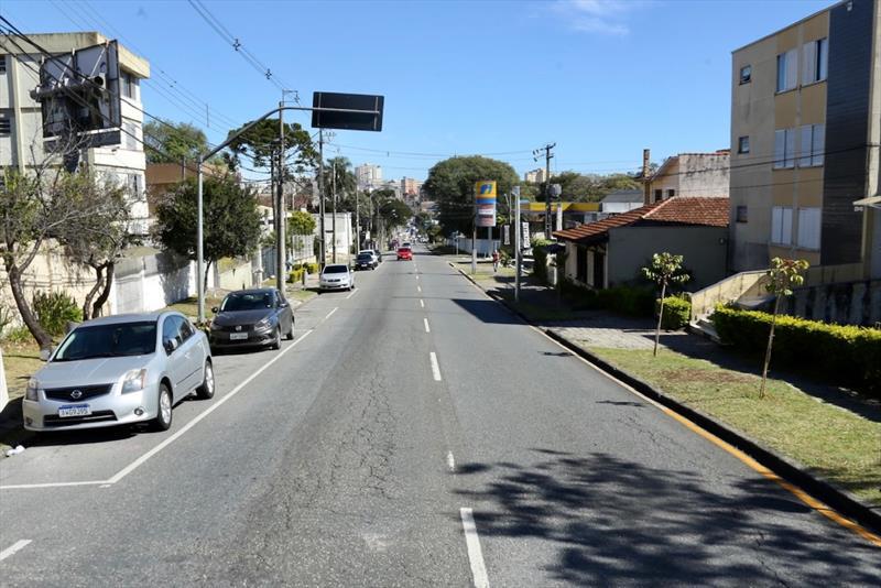 Marechal Deodoro terá nova faixa exclusiva para transporte coletivo. Curitiba, 24/05/2021. Foto: Luiz Costa/SMCS