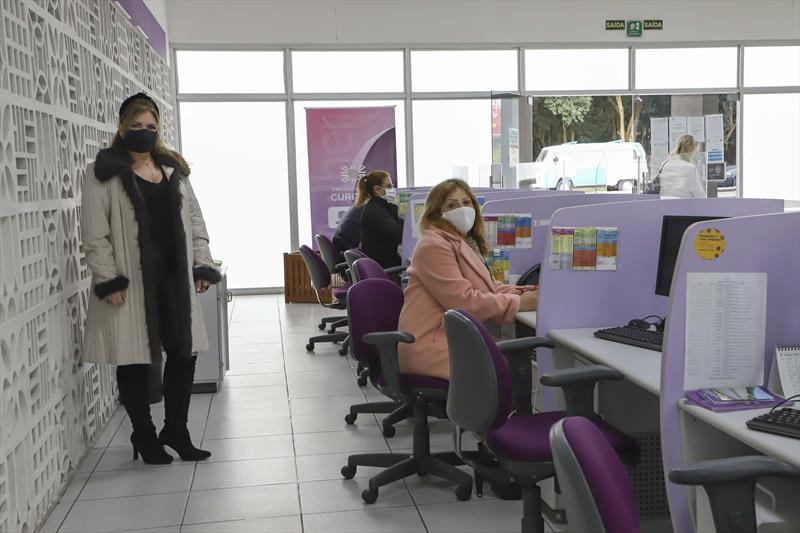 Após o início da pandemia da covid-19 o número de atendimentos registrados na Casa da Mulher Brasileira (CMB) de Curitiba vem caindo. Foto: Hully Paiva/SMCS
