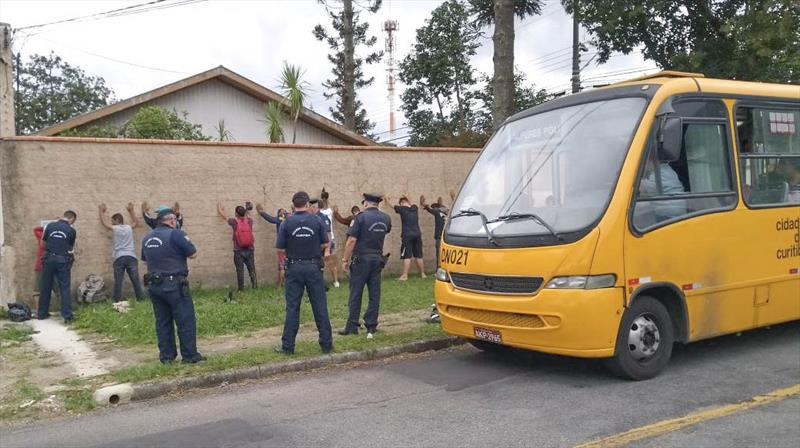A cada dois dias, Guarda Municipal faz nova operação na linha Alferes Poli. Foto: Divulgação