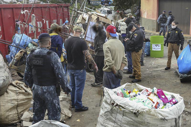 Operação Metal Nobre rastreia interceptações de material furtado de equipamentos públicos. Curitiba, 22/06/2021. Foto: Luiz Costa/SMCS