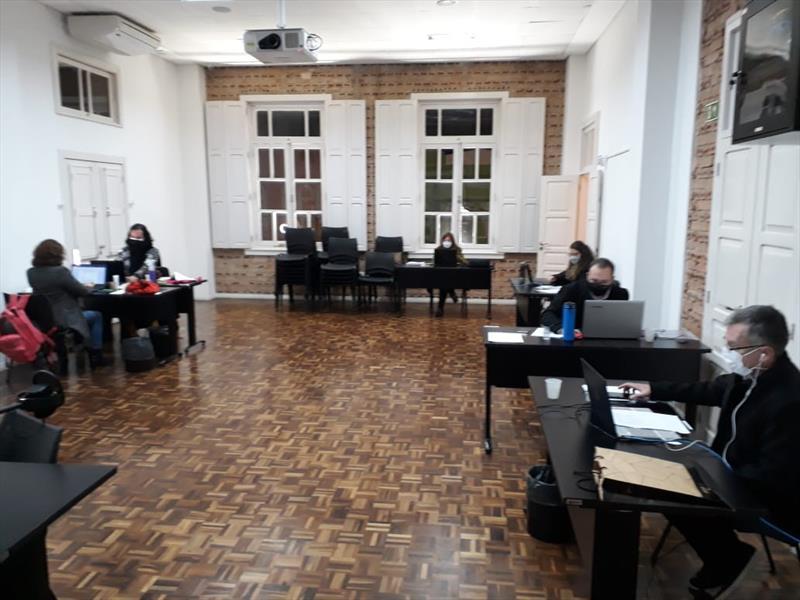 Representantes da comunidade artística realizaram a pré-conferência de cultura. Foto: Divulgação